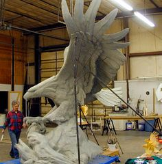 """Sandy Scott Art: In the studio: """"Noble Eagle, Spirit of America"""" Wood Carving Art, Wood Art, Eagle Images, Bird Artists, Raven Bird, All Birds, Sculpture Clay, Clay Art, Animal Drawings"""