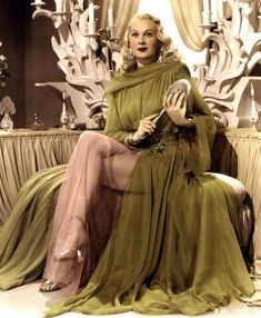 Actress Adele jergens in green negligee 1940s