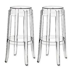 Modway Casper Bar Stools in Clear (Set of 2) - BAR HEIGHT