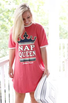 NEW! Nap Queen - Sleep Shirt now available for immediate shipping at WWW.JADELYNNBROOKE.COM