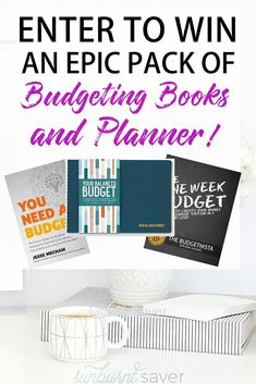 Enter for your chance to win two EPIC budgeting books and budgeting planner! If you're looking to crush your budget in 2018, you need practical, solid advice for setting and sticking to a budget. These books and planner will help you! #budgeting #sticktoa