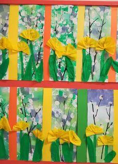 Spring Art Projects, Spring Crafts For Kids, Art For Kids, Valentine Crafts, Easter Crafts, Coffee Filter Art, Ecole Art, Preschool Art, Elementary Art