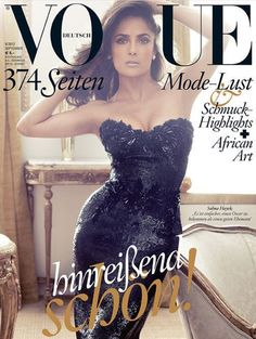 #SalmaHayek September 2012 #Vogue #Germany by Alexi Lubomirski ..