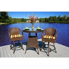 Lexington 3 Piece Outdoor Bar Set - like this...in black?