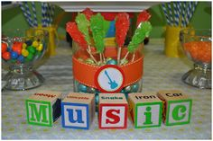 music 1st birthday party...such a cute idea!