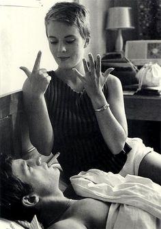 Jean-Paul Belmondo and Jean Seberg in À bout de souffle (Breathless), 1960. Directed by Jean-Luc Godard. Cinematographer Raoul Coutard.
