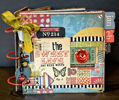 the sweet life journal by Sande K using Mykonos by 7 Gypsies ... love the rich bright colours in this collection