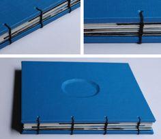relligat: encuadernación y diseño: Circulo azul