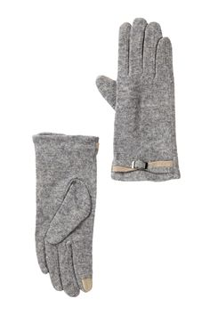 Wool Blend Tab Gloves by David & Young on @nordstrom_rack