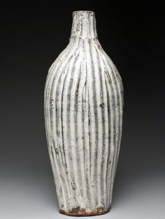 Josh Copus Wood Fired Carved Bottle at MudFire Gallery in Atlanta Decatur, GA