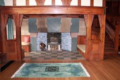 The Inglenook beneath the Minstrel's Gallery in the Main Hall.