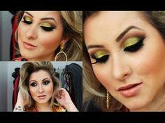 Maquiagem Verde Oliva para o Natal ჱܓ ~ Extravaganza por Van Almeida - YouTube