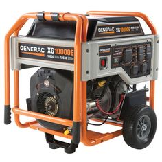 Generac 10,000W Portable Generator with Electric Start and 20' Cord