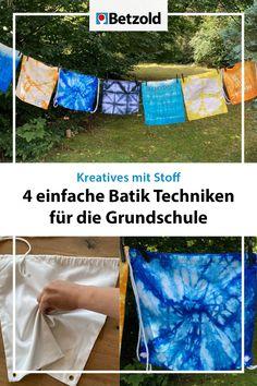 Batik bzw. Tie-Dye ist gerade wieder sehr im Trend. Hier stellen wir einige der Techniken vor und geben Tipps zum Färben und dem Fixieren der Farbe >>> Shibori, Picnic Blanket, Outdoor Blanket, Blog, Old Bed Sheets, Tips, Old Clothes, Teaching Ideas, Kids