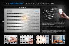 Megaman Light Bulbs: Lightbulb Calendar / Grabarz und Partners