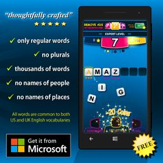 WORDFIX Word Game - Available on Windows Phone