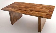 Butcher Block Dining Table - Teak Design Item #DT - Custom Sizes Available