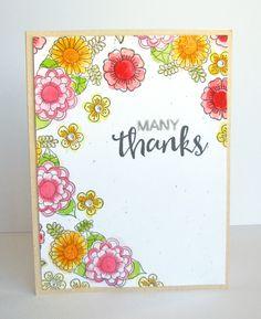 Hampton Art Blog: Many Thanks card by Nicole Nowosad
