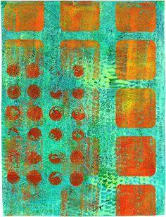 . . . . . One Woman's Hands: (yet more) freebie gelli prints