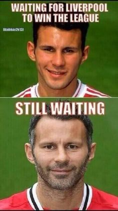 Ryan Giggs Manchester United Liverpool sucks - they should add another photo of him in his assistant manager outfit that would make this even more funny haha Anfield Liverpool, Liverpool Soccer, Manchester United Wallpaper, Manchester United Legends, Manchester United Football, Liverpool Memes, Camisa Liverpool, Soccer, Champs