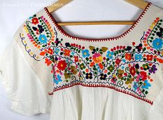 Beautiful Mexican embroidered peasant blouse