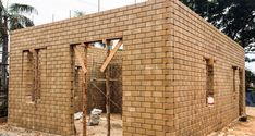 This article will discuss what interlocking bricks are, the advantages and disadvantages of using them and whether they are good for construction. - click for 3 min read Building A House Cost, Home Building Tips, Build Your House, Building Costs, Low Cost House Plans, Low Budget House, New House Plans, Cheap Houses To Build, Self Build Houses