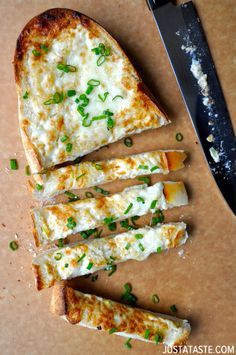 Secret Ingredient Cheesy Garlic Bread #recipe from justataste.com