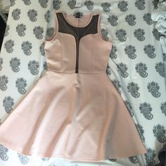 Light Pink and Mesh Dress NWT New with tags so it's in perfect shape. Beautiful color and it's perfect for any season! The darker part is mesh for a dressier (sexier) look  Rue 21 Dresses Mini