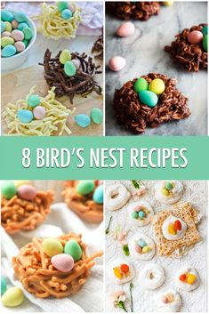 8 Fun Bird's Nest Recipes For Easter | Food Bloggers of Canada - mine  is one of them :-D http://www.foodbloggersofcanada.com/2017/04/8-birds-nest-recipes-perfect-for-easter-treats/