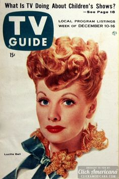 tv guide covers with lucy | Lucille Ball on TV Guide – December 10, 1955