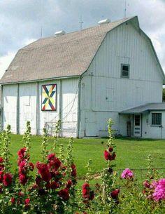 White quilt barn
