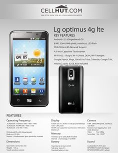 LG Optimus LTE is a Touch Bar phone weighing It′s dimensions are x x . The talk-time of the phone is Up to 3 hours. The phone op… Product Brochure, Android Smartphone