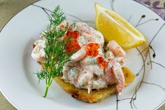 Prawns on toast Swedish style