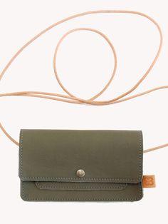 iphone 4 en 5 wallet |olijf groen