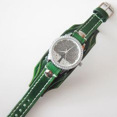 Green Watch Wrist Watch Ladies Watch Woman Watch Vintage