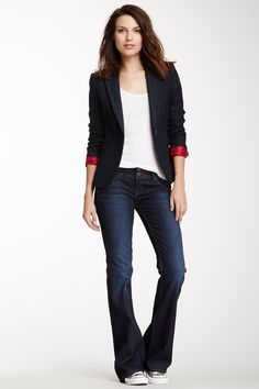 HUDSON Signature Bootcut Jean  #Bootcut #Jean #Contrast stitching