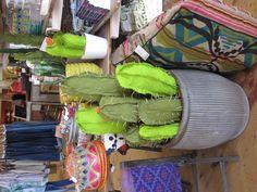 fabric cactus seen at local Anthropologie!