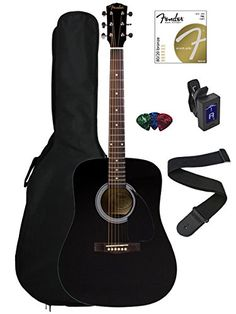 Fender FA-100 Dreadnought Acoustic Guitar Bundle with Gig...