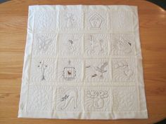 """These Quilt Blocks are stitched in the popular """"coffee"""" shades. The quilting stitch which is done last is matched to the cream fabric. A lovely combination! Embroidery Store, Machine Embroidery, Embroidery Designs, Quilt Blocks, Quilt Patterns, Latte, Quilting, Pattern Ideas, Stitch"""