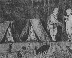 Tende usate da civili nella Genesi di Vienna / Tents used by civilians in the Vienna Genesis
