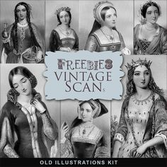 Freebies Vintage Illustrations Kit:Far Far Hill - Free database of digital illustrations and papers