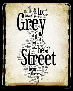 Grey Street  Dave Matthews Band Word Art  8x10 Word by no9images, $15.00