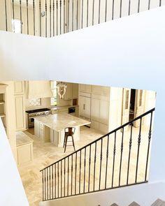 "@carterhillconstruction on Instagram: ""Throwback Thursday 👊🏼 Stanford Oaks kitchen and staircase 👌🏼 . . . #throwback #kitchen #staircase #railings #newconstruction #build…"" Staircase Railings, Stairs, Antique Doors, Panelling, Throwback Thursday, New Construction, Study, Flooring, Building"