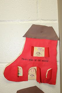 "There was an old woman who lived in a shoe"" lift the flap craft!"