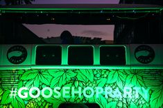 Here's the Disco Bug DJ Booth, looking fly in this sexy Goose Island body wrap... they threw a #hopparty in honour of their new IPA. did we try it? Yes and its worth throwing a party for!   #brandactivation #productlaunch  #experientialmarketing #eventproduction