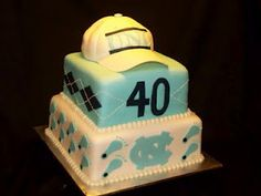 Carolina blue tar heels cake ... For Amanda and Lia go heels!
