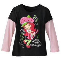 Strawberry Shortcake Mock-Layer Let the Music Move You Mock-Layer Tee - Toddler