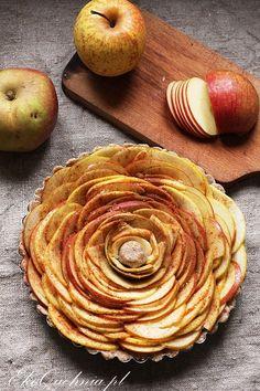 Owsiana tarta z jabłkami (wegańska)   Ekoquchnia