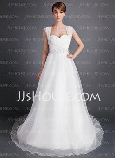 Wedding Dresses - $186.99 - A-Line/Princess Sweetheart Chapel Train Organza Wedding Dress With Ruffle Beadwork (002016006) http://jjshouse.com/A-Line-Princess-Sweetheart-Chapel-Train-Organza-Wedding-Dress-With-Ruffle-Beadwork-002016006-g16006