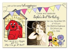 Clifford Big Red Dog Birthday Invitation  you by inspiredbyangel, $16.00